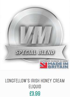Longfellow's Irish Honey Cream Eliquid