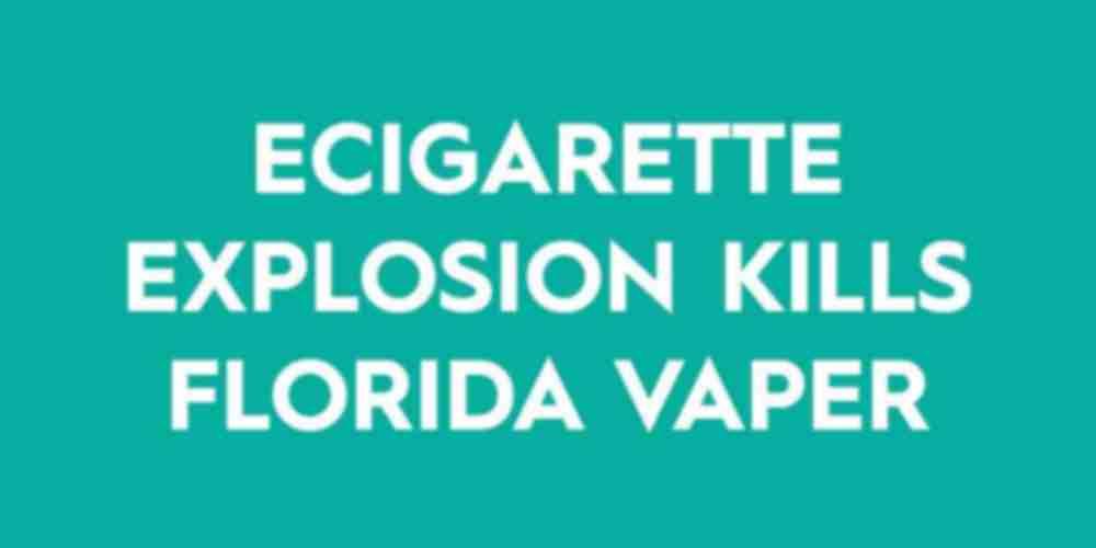Vaper dies after ecigarette explosion