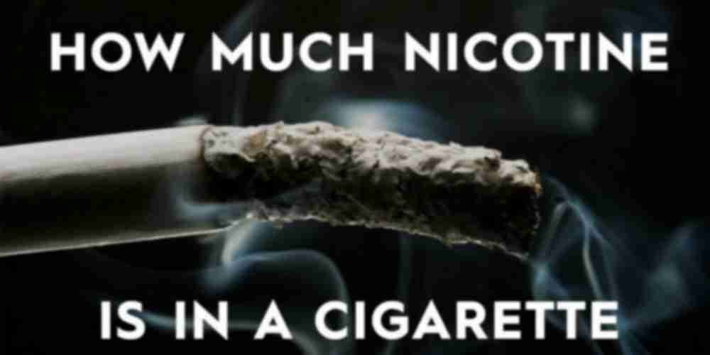 how much nicotine in a cigarette