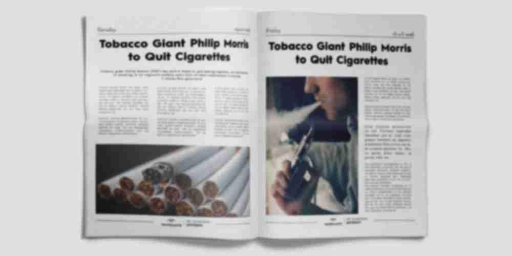 Philip Morris to Quit Cigarettes