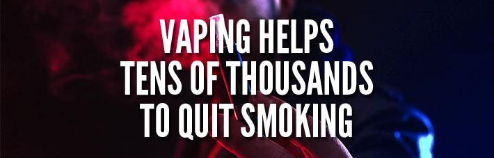 vaping helping quit smoking