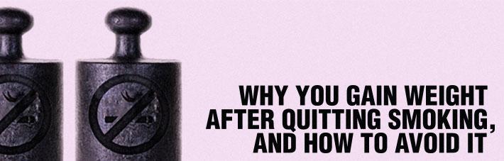 Why you gain weight when you quit smoking