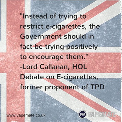 Quote from Lord Callanan on ecigarettes