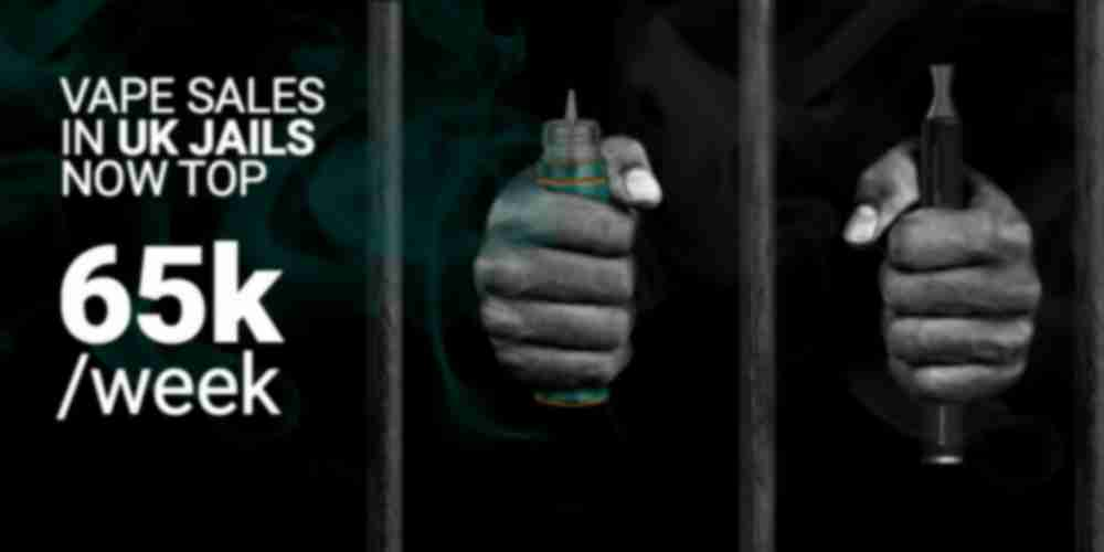 Vape sales in jails have now topped 65,000 a week
