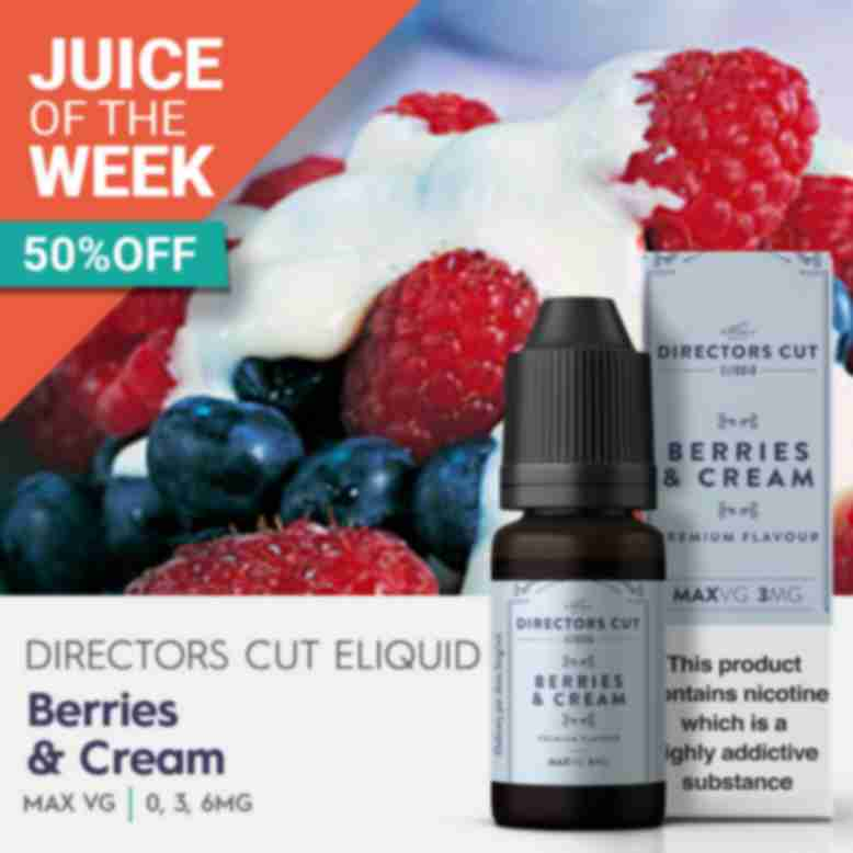 Berries & Cream eliquid Juice of the week