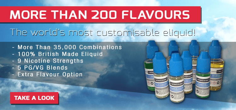 More than 200 flavours of eliquid