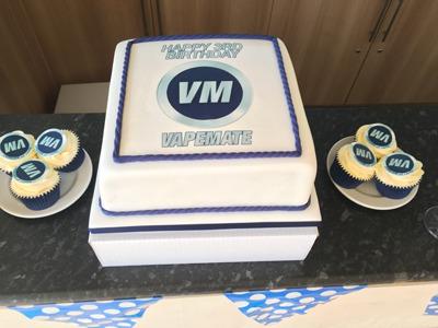 Vapemate Third Birthday Cake