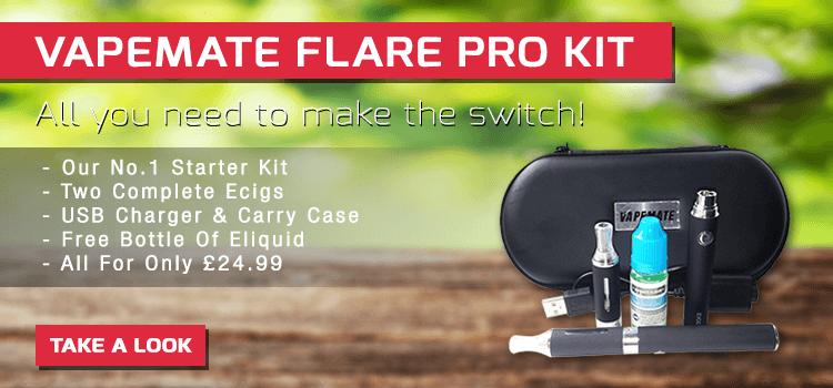 vapemate flare pro start ecigarette kit